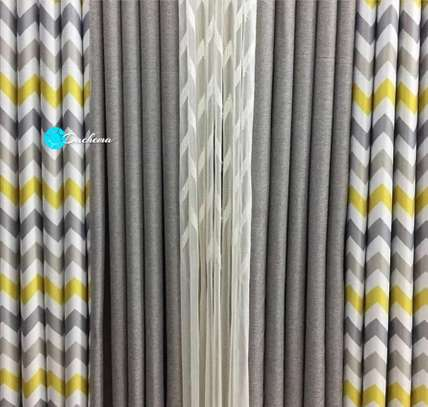 double sided patterned grey curtains image 1