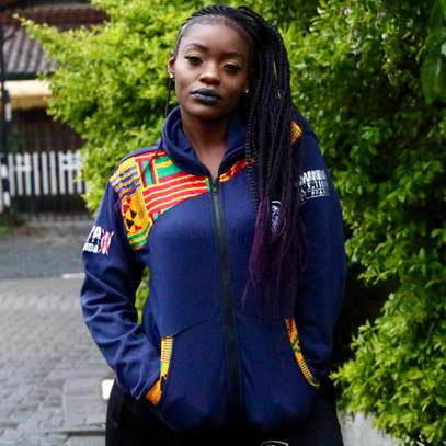 Oxford Kente Zip up Hoodie
