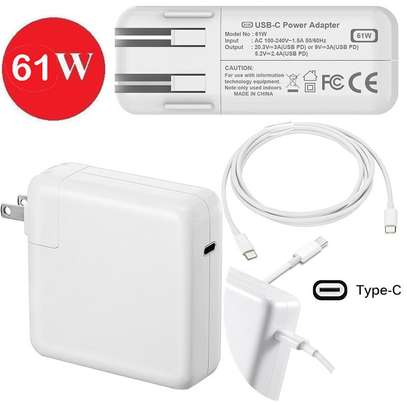 """61W Type C USB-C Power Adapter Charger w/ Cable for Apple Macbook Pro 13"""" A1706 A1708 A1718 image 1"""