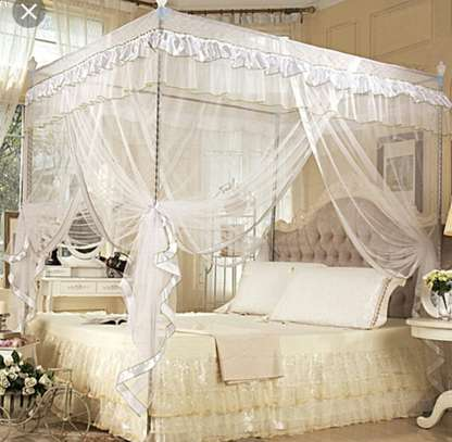 RAILED MOSQUITO NET CANOPY