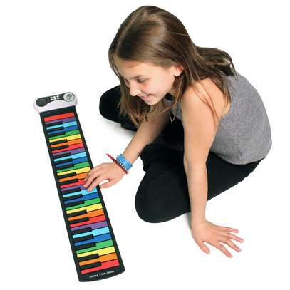 49 Rainbow Keys Kids Piano - Roll up Piano Colorful Piano made of Flexible Silicon rubber