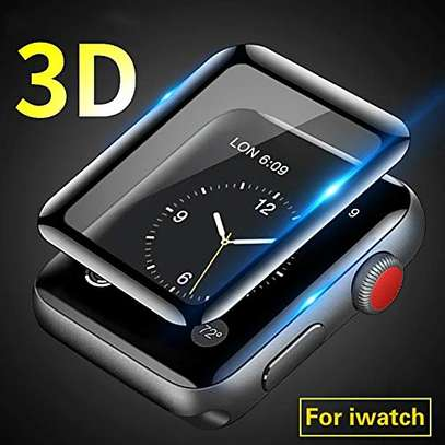 3D Curved Edge Tempered Glass Protective Film For Apple Watch 40,42,44 image 2