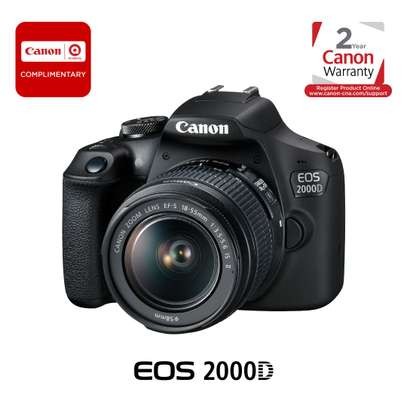 Canon EOS 2000D DSLR Camera with 18-55mm Lens image 1