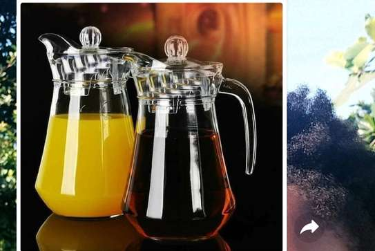 1pc Glass Juice/ Water Jugs image 1