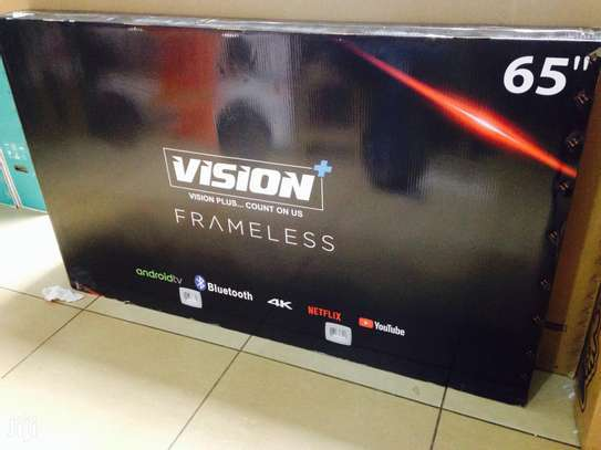 New 65 inches Vision Frameless Smart UHD-4K Android Digital TVs image 1