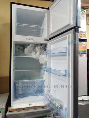 Mika Refrigerator 156L Direct Cool Double Door Dark Silver image 1