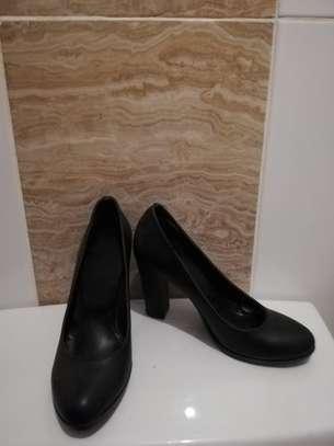 Black Heels Size 37 image 2