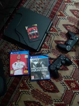 Playstation 4 and 2 games.
