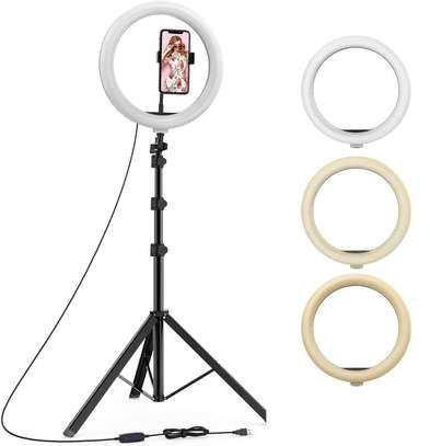 26cm/10 Inch LED Ring Light with Light Stand Universal Phone Holder Kit image 3