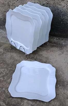 A set of 6 white plates image 1