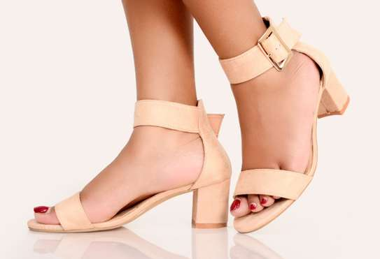 Nude  Basic Pump Ladies Open toe Classic Basic Pump Official Shoes for Women image 1