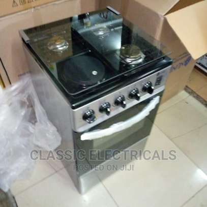 3+1 Hot Plate With Electric Oven Standing Cooker Available image 1