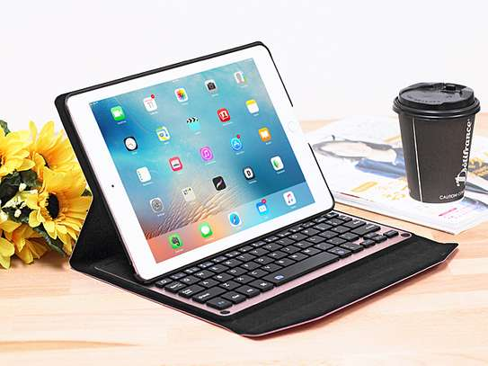 Detachable Wireless bluetooth Keyboard Kickstand Tablet Case For iPad Air 2 9.7 inches image 6