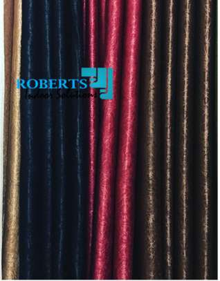 poly cotton red black and brown curtains image 1