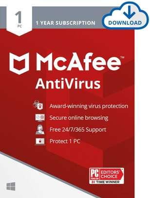 McAfee AntiVirus PC 1 Device 1 Year McAfee Key image 1