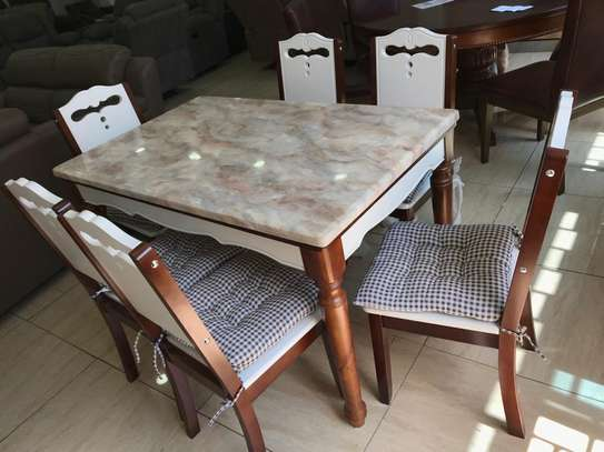 Faris Marble Dining Table 6 Seater image 2