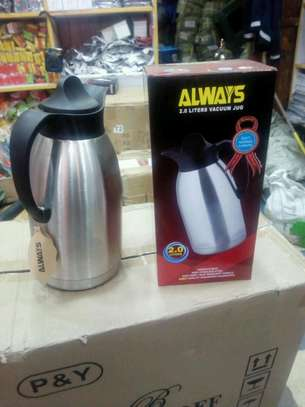 Stainless steel thermos image 1