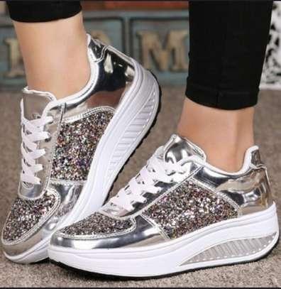 Ladies Sparkling Sneakers image 1