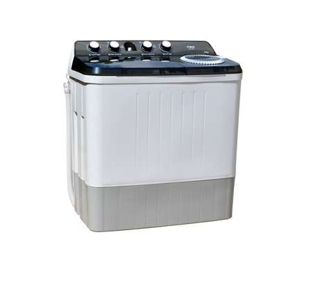Washing Machine, Semi-Automatic Top Load, Twin Tub, 10Kg, White & Grey image 1
