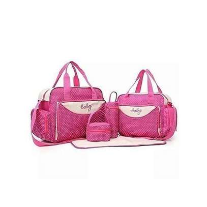 High Quality Pink 4 In 1 Diaper Bag With A Changing Mat- Pink