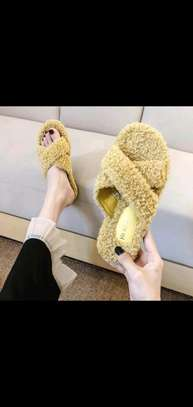 Ladies Open Fluffy sandals image 2