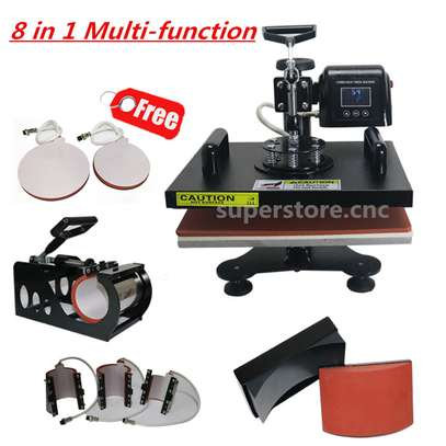 Professional 8 in 1 Heat Press Machine Transfer Sublimation for T-Shirt Mug Cup Plate Cap Hat