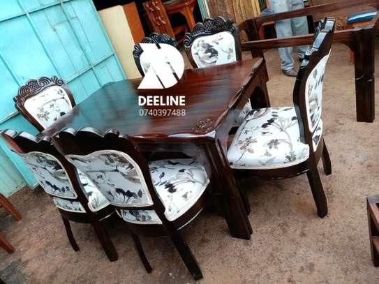 6 Seater Solid Mahogany Wood Sets. image 1