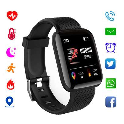 Smat fitness bracelet monitor steps blood pressure and social media alerts