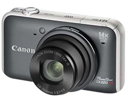 Canon Powershot SX220 HS- 12.1MP, 14x Optical Zoom 3.0 Inch LCD