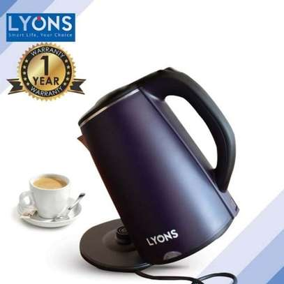 Lyons Cordless Black Stainless Steel Electric Kettle image 1