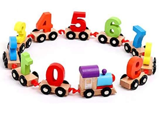 Numeric Numbers Children Wheeled Train Toys image 1