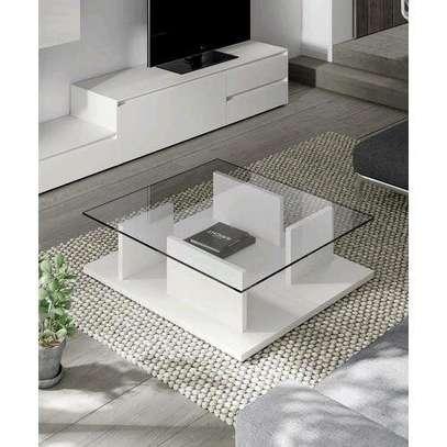 Stylish Modern Quality Glass Coffee Table image 1