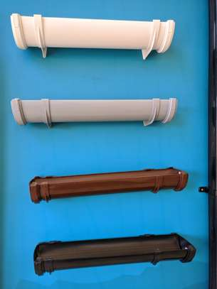 Half Round PVC Rainwater Gutter image 1