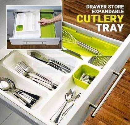 Expandable drawer cutlery organizer image 1