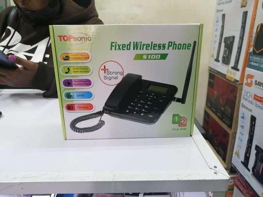 Topsonic S100 Fixed Wireless Landline Phone GSM SMS FM Dual SIM image 1