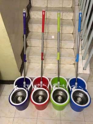 Metallic spin mop image 1