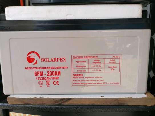 Dry gel solar battery 200Ah image 1