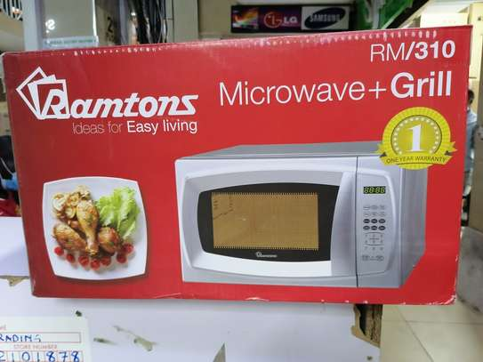 20 litres ramtons digital silver microwave image 1