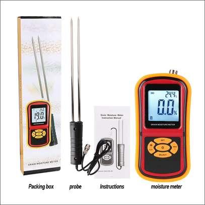 Digital Grain Moisture Meter GM640 RT640 Portable with 8 Measuring Grains Species Long Steel Probe Sensor with Large LCD Display image 3
