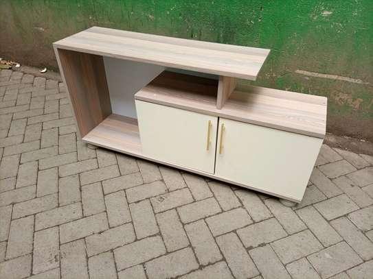 Wooden grey tv stand 101v image 1