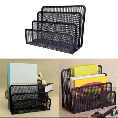 Metallic mesh table organizer image 1