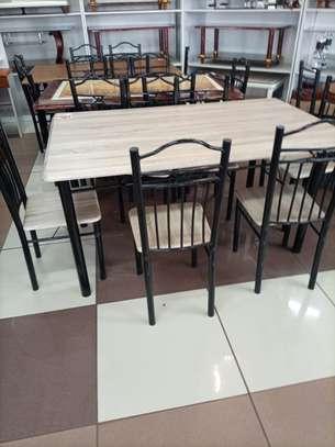 Wooden dining set image 1
