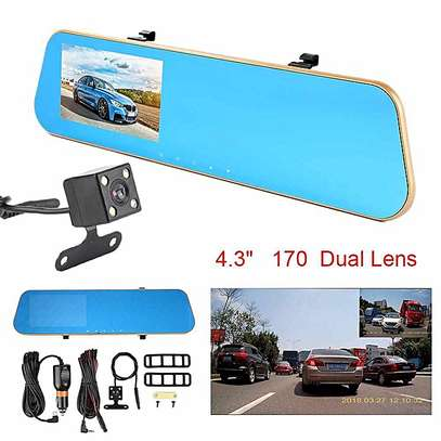 Rear view mirror (with front and back camera)