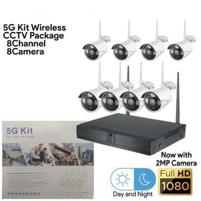 8 Channel Wireless NVR 5G Camera Kit image 1