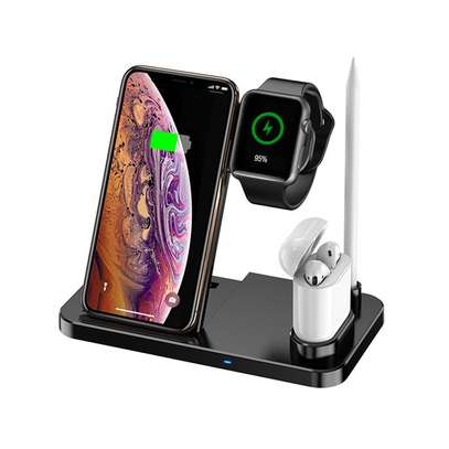 4 in 1 Qi Wireless Charger Charging Holder Stand for Apple iPhones,airpods,iPencil and iwatches 1,2,3,4,5 image 5