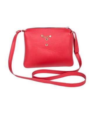Ladies sling bag(red) image 2
