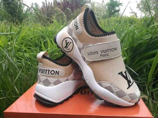Brown LV Paris sneakers image 1