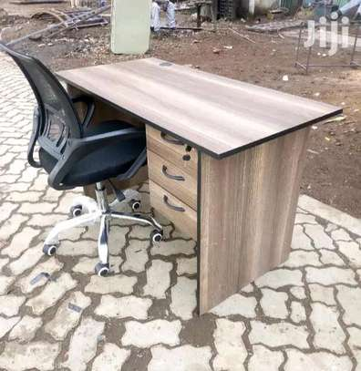 Students study desk with an adjustable desk chair image 1