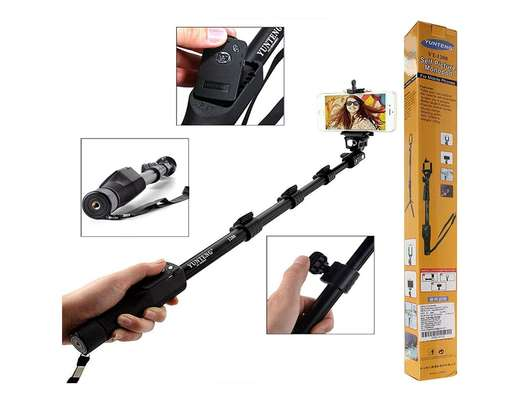 Yunteng 1288, 3 In 1 Kits Monopod Phone Holder Clip Bluetooth Remote Shutter image 1