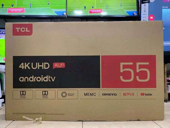 55 inch TCL smart Android UHD 4K image 1